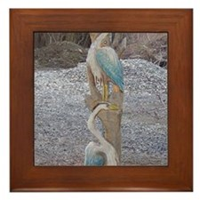 Cute Wood carving Framed Tile