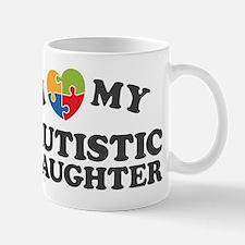 Love My Autistic Daughter Mugs