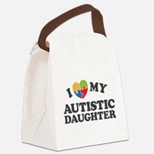 Love My Autistic Daughter Canvas Lunch Bag