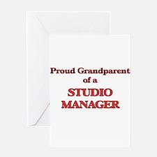 Proud Grandparent of a Studio Manag Greeting Cards