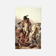Blackfoot Native American Warrior Area Rug