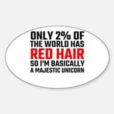 Only 2 Percent Of The World Has Red Hair Decal