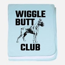 Boxer Wiggle Butt Club baby blanket