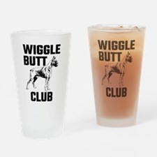 Boxer Wiggle Butt Club Drinking Glass