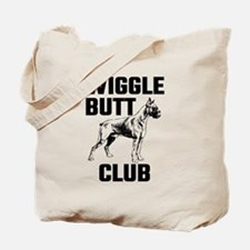 Boxer Wiggle Butt Club Tote Bag