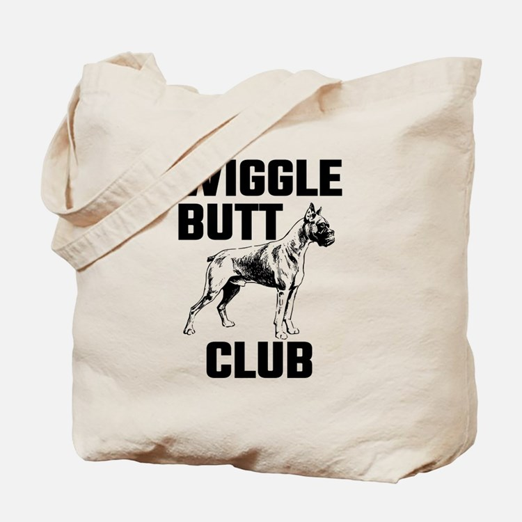 Boxer Wiggle Butt Club Tote Bag