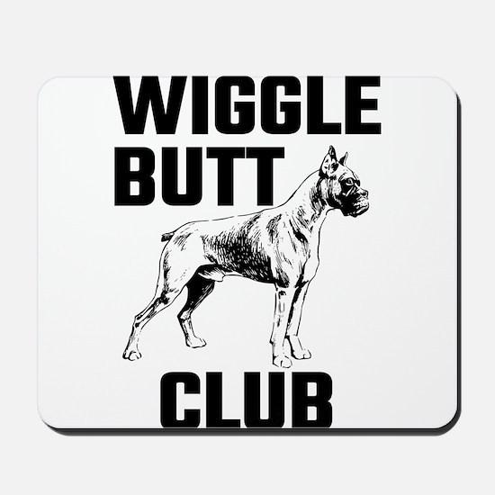 Boxer Wiggle Butt Club Mousepad