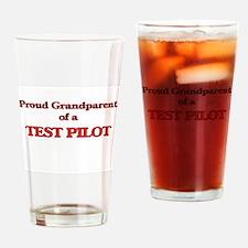 Proud Grandparent of a Test Pilot Drinking Glass