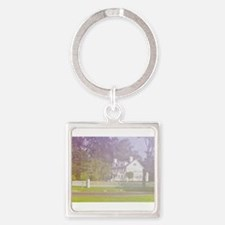 soft view of old farmhouse Keychains