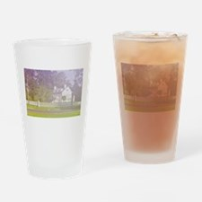 soft view of old farmhouse Drinking Glass