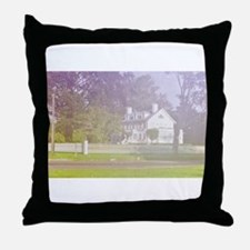soft view of old farmhouse Throw Pillow