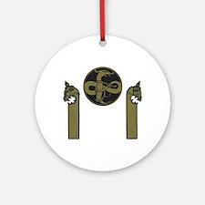Viking Emblem Round Ornament