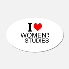 I Love Women's Studies Wall Decal