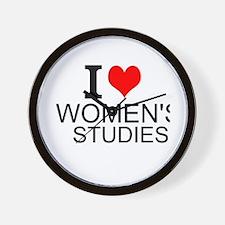 I Love Women's Studies Wall Clock
