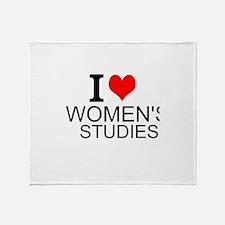 I Love Women's Studies Throw Blanket