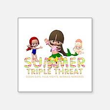 "Summer Triple Threat Square Sticker 3"" x 3"""