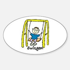 Swinger Swing Set! Oval Decal