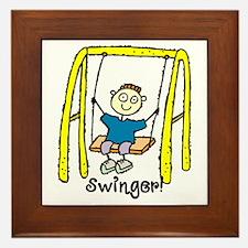 Swinger Swing Set! Framed Tile