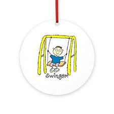 Swinger Swing Set! Ornament (Round)