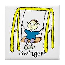 Swinger Swing Set! Tile Coaster