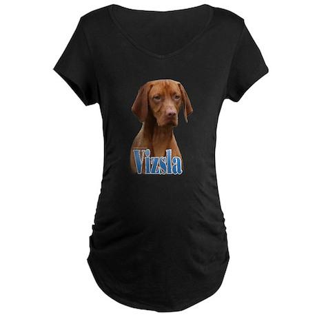 Vizsla Name Maternity Dark T-Shirt
