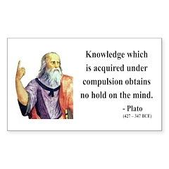 Plato 21 Rectangle Decal