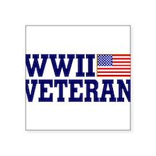 "Cute World war ii veteran Square Sticker 3"" x 3"""