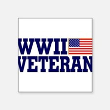 "Cute Wwii veteran Square Sticker 3"" x 3"""