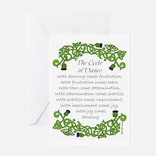 Cute Irish dance Greeting Card