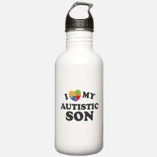 Love My Autistic Son Water Bottle