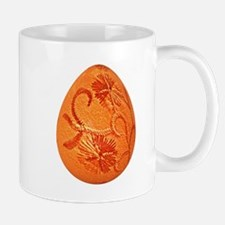 Gorgeous Orange Easter Egg Mugs