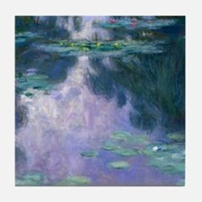 Water Lilies (Nympheas) 1907 Tile Coaster