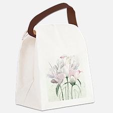 Beautiful Peony Canvas Lunch Bag