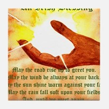 Cute Irish blessing may the road Tile Coaster