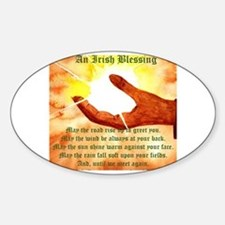 Cute Irish blessing may the road Decal
