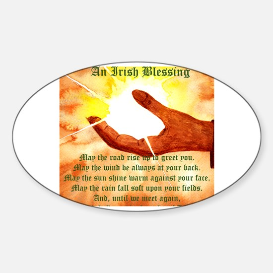 Cute Irish blessing may the road Sticker (Oval)