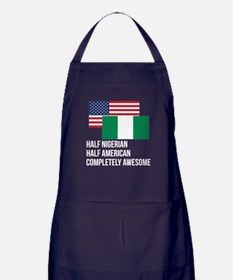 Half Nigerian Completely Awesome Apron (dark)