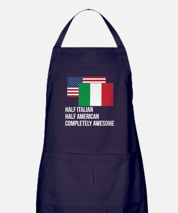 Half Italian Completely Awesome Apron (dark)
