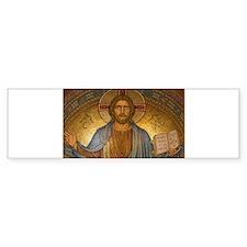 Jesus Christ Vintage Paintng Bumper Bumper Bumper Sticker