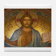 Jesus Christ Vintage Paintng Tile Coaster