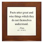 Plato 22 Framed Tile