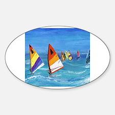 Cute Sailboarding Decal