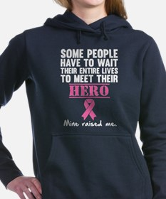 Breast Cancer Hero Women's Hooded Sweatshirt