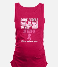 Breast Cancer Hero Maternity Tank Top