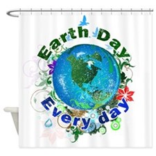 Earth Day Every Day Shower Curtain
