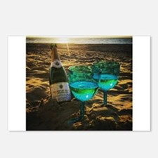 Beach with Drinks Postcards (Package of 8)
