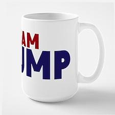 Team Trump Navy Red Font Hat Mugs
