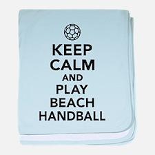 Keep calm and play Beachhandball baby blanket