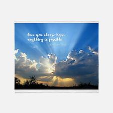 Divine Light Bursting Through Clouds Hope Throw Bl