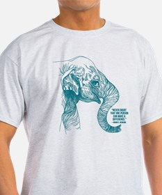 One Can Make A Difference Elephant Sketch T-Shirt